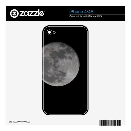 Full Moon Decals For The iPhone 4S