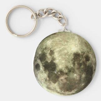 Full moon Southern Hemisphere Keychain. Basic Round Button Keychain