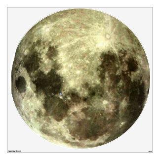 Full Moon Southern Hemisphere Wall Decal. Wall Sticker