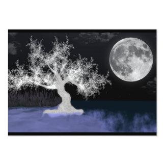 """Full Moon Splendor Poetry Invitation 5"""" x 7"""""""
