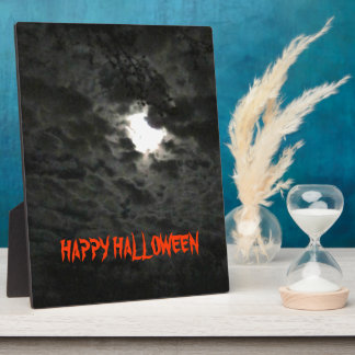 Full Moon & Spooky Clouds Plaque