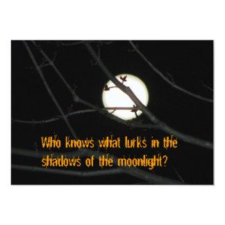 Full Moon Spooky Halloween Invitation
