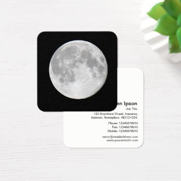 Professional Business Full Moon Square Business Card