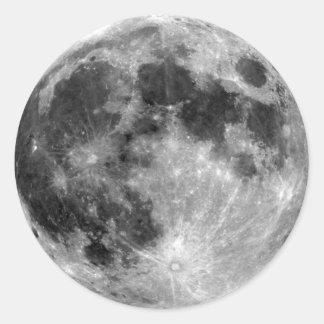 Full Moon Round Stickers