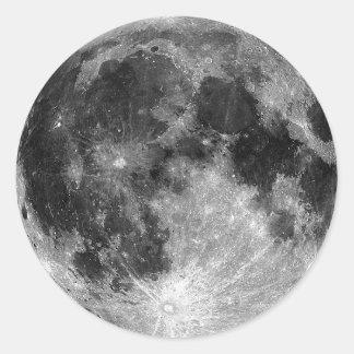 Full Moon Classic Round Sticker