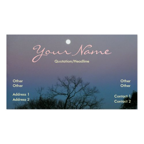 Full Moon Sunrise Business Card