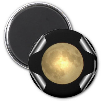 Full Moon (Turn Page Special Effect) 2 Inch Round Magnet
