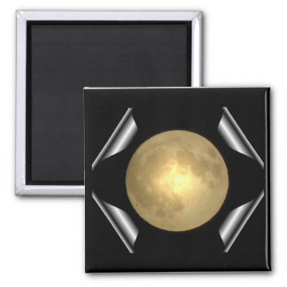 Full Moon (Turn Page Special Effect) 2 Inch Square Magnet
