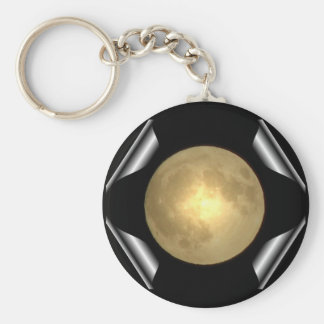 Full Moon (Turn Page Special Effect) Basic Round Button Keychain
