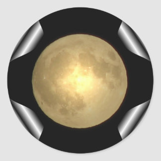 Full Moon (Turn Page Special Effect) Classic Round Sticker
