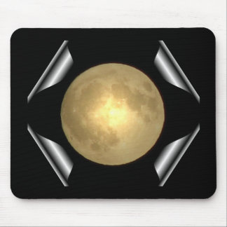Full Moon (Turn Page Special Effect) Mouse Pad
