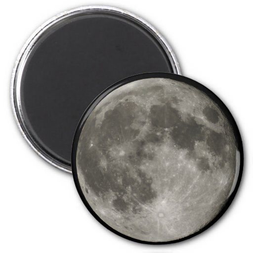Full Moon view from Earth in Belgium Refrigerator Magnets