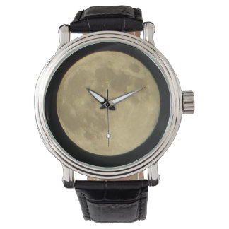 Full Moon Vintage Leather Watch