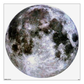 Full Moon Wall Decal. Room Graphic