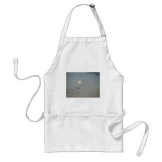 Full moon with clouds adult apron