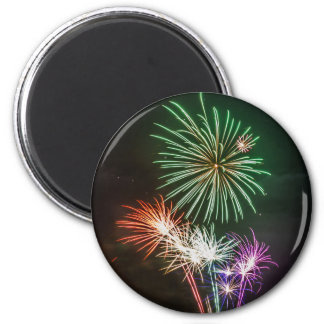 Full Moon with Fireworks 2 Inch Round Magnet