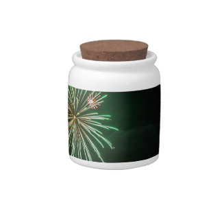 Full Moon with Fireworks Candy Dish
