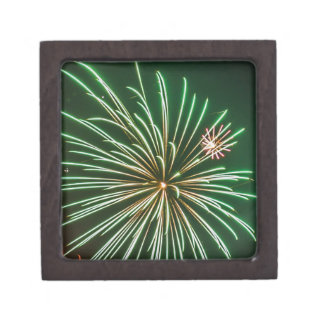 Full Moon with Fireworks Jewelry Box