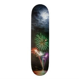 Full Moon with Fireworks Skate Decks
