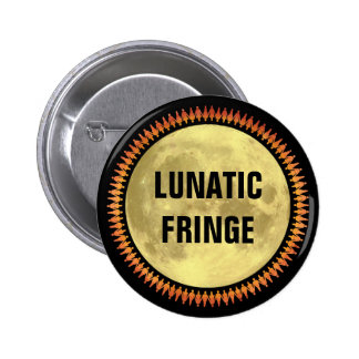 Full Moon with Lunatic Fringe 2 Inch Round Button
