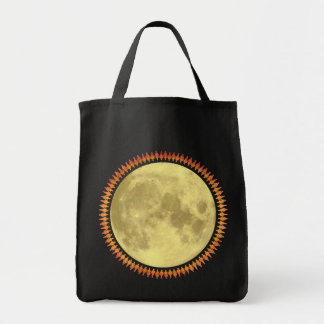 Full Moon with Lunatic Fringe Canvas Bags