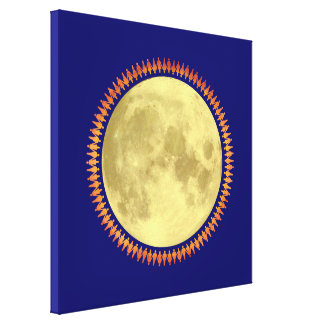 Full Moon with Lunatic Fringe Gallery Wrapped Canvas