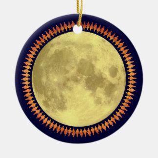Full Moon with Lunatic Fringe Christmas Ornament