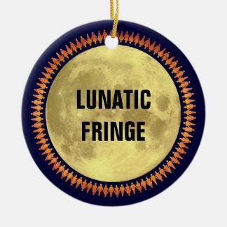Full Moon with Lunatic Fringe Christmas Tree Ornament