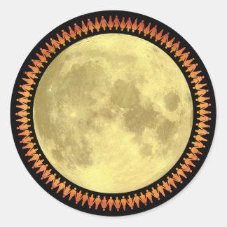 Full Moon with Lunatic Fringe Sticker