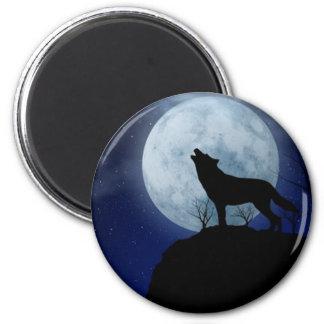 Full Moon Wolf Magnet