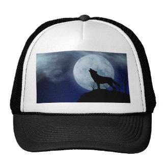 Full Moon Wolf Trucker Hat
