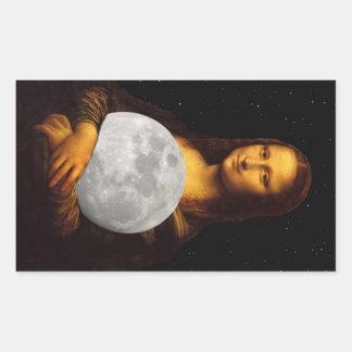 Full Moona Lisa Rectangular Sticker
