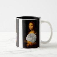 Full Moona Lisa Two-Tone Coffee Mug