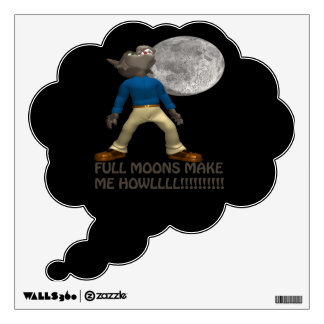 Full Moons Make Howl Wall Decal