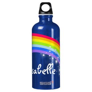 """""""Full name"""" rainbow teal blue kids drinks bottle"""