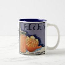Full O Juice Oranges Two-Tone Coffee Mug