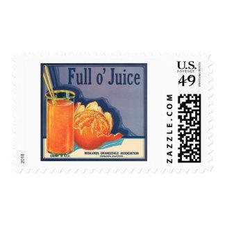 Full o' Juice Vintage Orange Growers Advertisement Postage