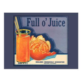 Full o' Juice Vintage Orange Growers Advertisement Postcard