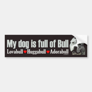 Full of Bull - Pit Bumper Sticker