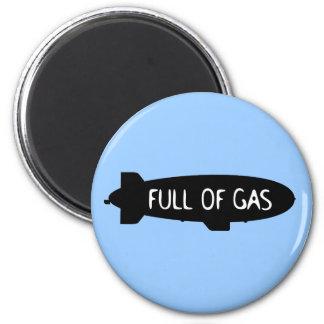 Full Of Gas - Blimp 2 Inch Round Magnet