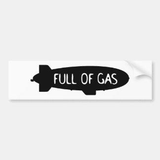 Full Of Gas - Blimp Bumper Sticker