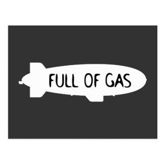 Full Of Gas - Blimp Postcard