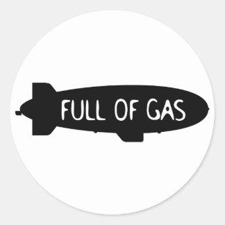 Full Of Gas - Blimp Classic Round Sticker