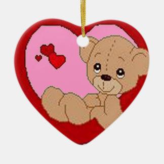 Full of Heart Ceramic Ornament