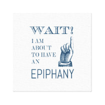 Full of Ideas Creative Epiphany Funny Canvas Print
