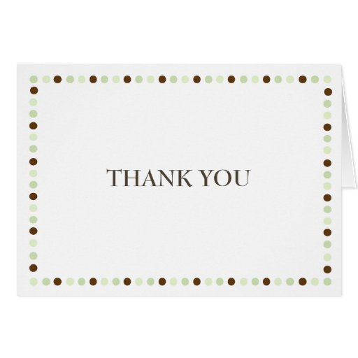 Full of Joy Green Thank You Note Card