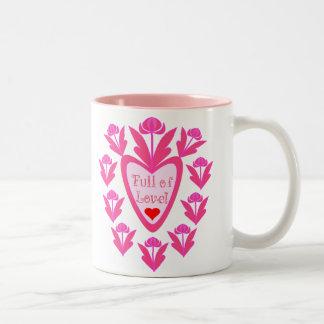 Full Of Love Heart And Flowers Mug