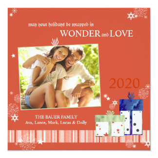 Full of LOVE Holiday Gift Box Photo Card