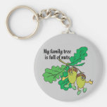Full of Nuts Basic Round Button Keychain