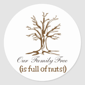 Full of Nuts Classic Round Sticker